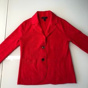Knit red jacket
